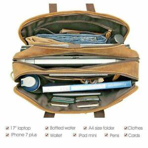 Leather Briefcase, Leather Attache, Vintage Business Handbag, customization avai
