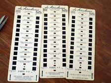 (Lestrade - ROMO) Stéréofilms Couleurs circa. 1960 PARIS Planches Nr 1-4-7