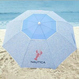 NAUTICA BEACH UMBRELLA 7 FOOT LOBSTER