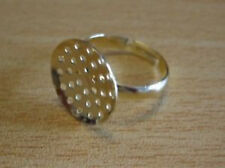 Quality ring blanks gold tone sieve pad beading x pack of 10 UK seller OS52