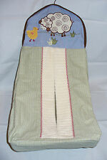 Kidsline Countryside Country Side Diaper Stacker Farm Animals Barn Sheep Plaid