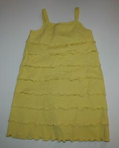 NEW Hanna Andersson Yellow Tiered Ruffle Summer Dress Size 110 CM or 5-6 year
