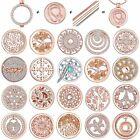 33MM Fashion Crystal My Coin Charms Pendant For Locket Holder Necklace Jewellery