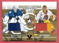 2015-16 Pogge - Murphy ITG Final Vault 2008-09 Between the Pipes Dual Jersey 1/1