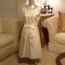 Kate Spade Wedding Ivory Silk Jillian Bow Dress $375 size 10 NWT