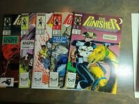 The Punisher 5 book lot #15,16,17,18,19 ~ Marvel Comics 1989 ~ NM