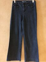 Women's Size 2 Wide Leg Jeans Trousers Dark Wash Blue