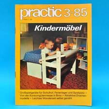 DDR practic 3/1985 Großspielgeräte Drachen Gleitjolle Stöpselspiel Kindertisch O