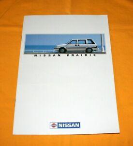Nissan Prairie 1989 Prospekt Brochure Catalog Depliant Prospetto Prospecto