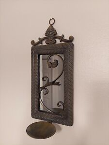 Metal Wall With Mirror Decor Piece
