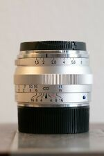 Carl Zeiss C Sonnar T* 50mm F/1.5 ZM Silver (for Leica M mount) -NEAR MINT-
