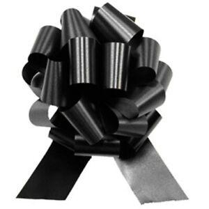 "14"" XL Large Metallic Black Pull Bow Giant Wedding Decorations Props Decoration"