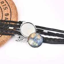 DIY Jewelry 5Pcs 25mm Cabochon Setting Tray Multi-Layer Leather Bracelet Bangle