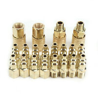 Brass Male&Female Thread 1/4 NPT Quick Coupler Set Air Hose Connector Fittings
