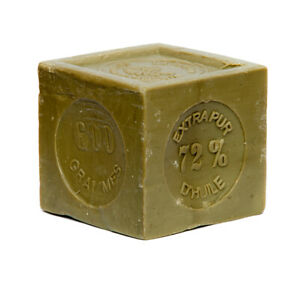 FRENCH SOAP ,SAVON DE MARSEILLE 600g CUBE, VEGETABLE AND OLIVE OIL, FLAT POSTAGE