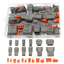 16 Set DTM Waterproof Wire Connector Kit Automotive Sealed Plug with Pins