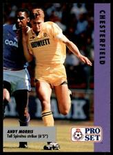Pro Set Fußball Fixtures 1991-1992 Chesterfield Andy Morris #77