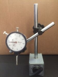 Mitutoyo Magnetic Stand (7010 SN) with Mitutoyo Dial Indicator No 2416S