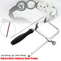Adjustable Jewelry Saw Frame Blade DIY Jeweler Making Repair Tool Hand