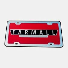 Farmall Mirror License Plate
