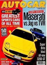 AUTO CAR MAGAZINE - 2 June 1999 MASERATI VS JAG VS TVR