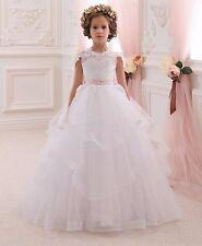 Hot Flower Girl Dresses Floor Length 2017 Girls Ball Gown First Communion Dress