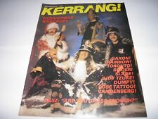 Kerrang 31  - Xmas 1982 Saxon Rainbow Rose Tattoo Slade EXCELLENT CONDITION