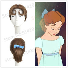 Peter Pan Wig Princess Wig Wendy Wig Brown Cosplay Costume Halloween Wigs