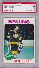 1975 OPC Hockey #215 KEN HODGE PSA 7 NM Boston BRUINS O-Pee-Chee CENTERED