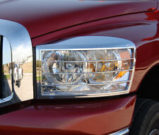 Fits Dodge Ram 1500 2006-2008 ABS Chrome Headlight Trim Bezels