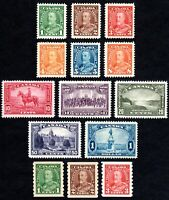 Canada King George V Pictorial - Complete Set & Coils - Scott 217-230 - MH VF