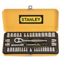 "Stanley 41-PIECE 1/4"" 3/8"" DRIVE SOCKET SET Rust Resistant Durable Case SILVER"