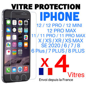 VERRE TREMPE IPHONE VITRE FILM PROTECTION ECRAN 11 12 PRO MAX SE 20 6 7 8 X XR