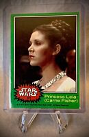 1977 STAR WARS - Princess Leia (Carrie Fisher) - Topps Series 4 (Green) Card 221