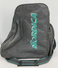 Vintage Nordica SKI BOOT BAG Gray Aqua 80s Retro