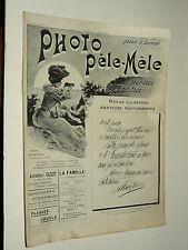 Revue Photo Pele Mele N°10  9/1903  photographie journal magazine stéreo book