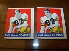 """Bob """"DEMO"""" De Moss x 2 #86 1948 Leaf Very Good/Excellent 4"""