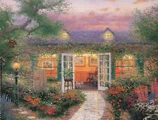 Studio in the Garden --- Painter of Light Art Card ---Thomas Kinkade Postcard