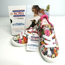 New listing Skechers Lil Bobs Girl's Beach Bingo Dog Park Shoes Size11 New