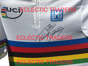 Peter Sagan SIGNED Rainbow Jersey XL BNWT cycling Shirt. UCI Bike Tour de France