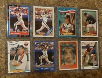(8) Ken Caminiti 1988 Fleer Donruss Topps Score Rookie card lot RC 1989 Astros