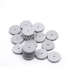 100 pcs Dental White Porcelain Silicone Rubber Coarse Polishing Wheels Polisher