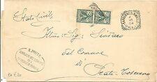 P5195   Firenze, BARBERINO di MUGELLO, tondo riquadrato 1904