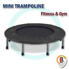 "40"" Mini Trampoline Jogger Rebounder Home Gym Workout Fitness Outdoor Indoor Bla"