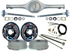 """CURRIE 64-66 MUSTANG REAR END & 11"""" DRUM BRAKES,LINES,PARKING BRAKE CABLES,AXLES"""