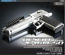 Academy Desert Eagle 50 Silver  Edition Airsoft /6mm  Hand Grips Toy +400bb