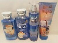 Bath & Body Works BEACH NIGHTS SUMMER MARSHMALLOW  Lotion Gel Mist You Choose