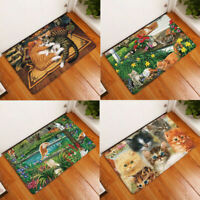 Print Cute Pug Dog Doormat Indoor  Door Mat Flannel Floor Mat Rugs Tapis Bedroom