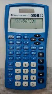 Texas Instruments Scientific 2 Line Calculator TI-30X IIS Blue