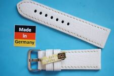 Crocodile Watch Band Compatible Panerai Watches 24mm White